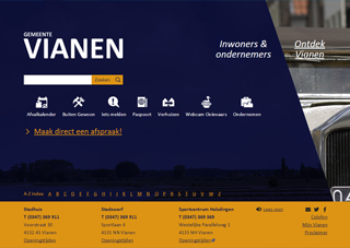 Screenshot Toptaken website gemeente Vianen
