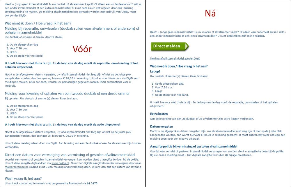 Wat levert een toptaken website op, voorbeeld Roermond