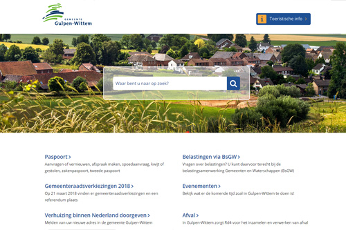Screenshot Toptaken website gemeente Gulpen-Wittem