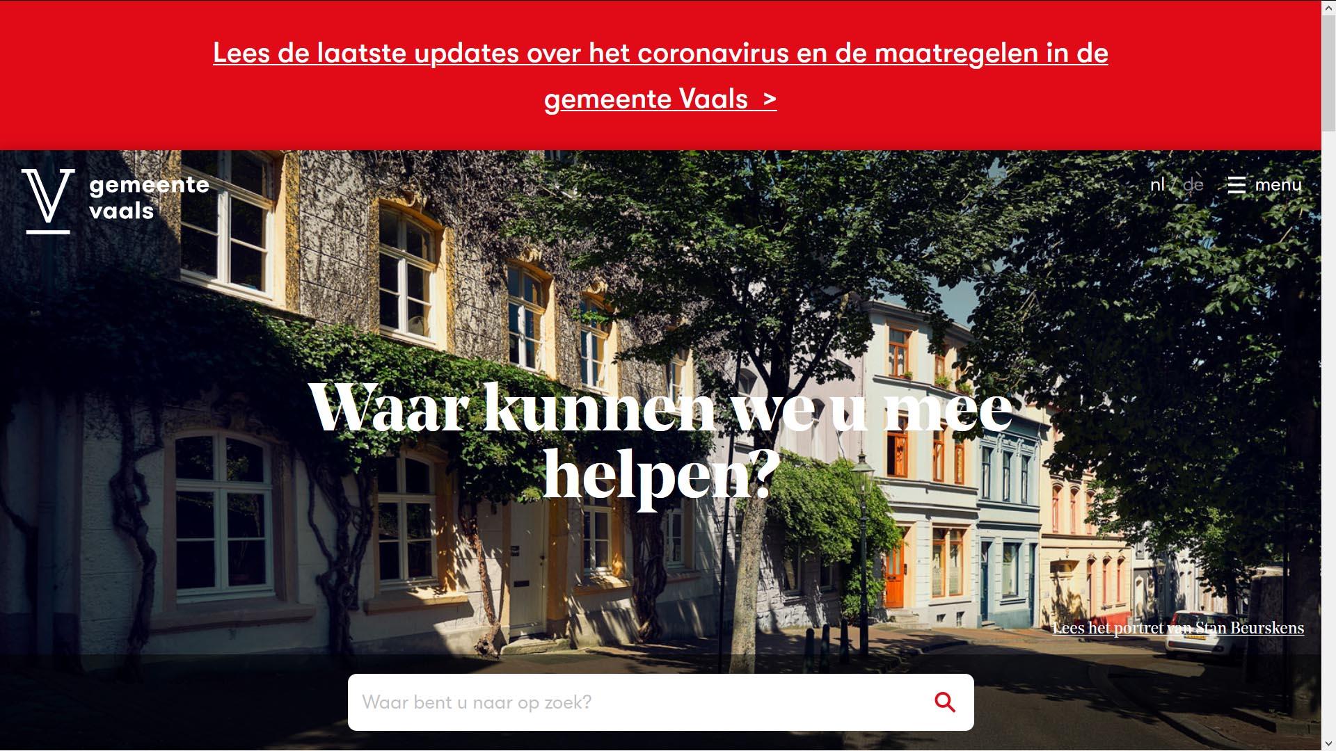 Toptaken in crisistijd gemeente Vaals   Toptaken website