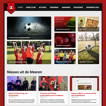 Screenshot toptaken website VV Baarlo