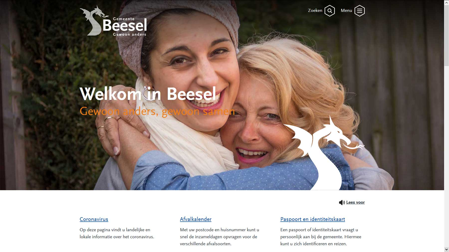 Homepage website gemeente Beesel | Toptaken website