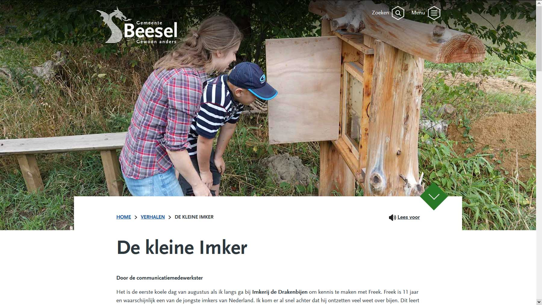 Detail storytelling Beesel | Toptaken website