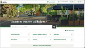 Thumbnail screenshot website gemeente Landerd | Toptaken website