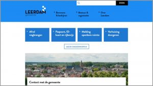 Thumbnail screenshot website gemeente Leerdam | Toptaken website
