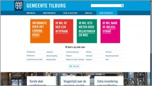 Thumbnail screenshot website gemeente Tilburg | Toptaken website