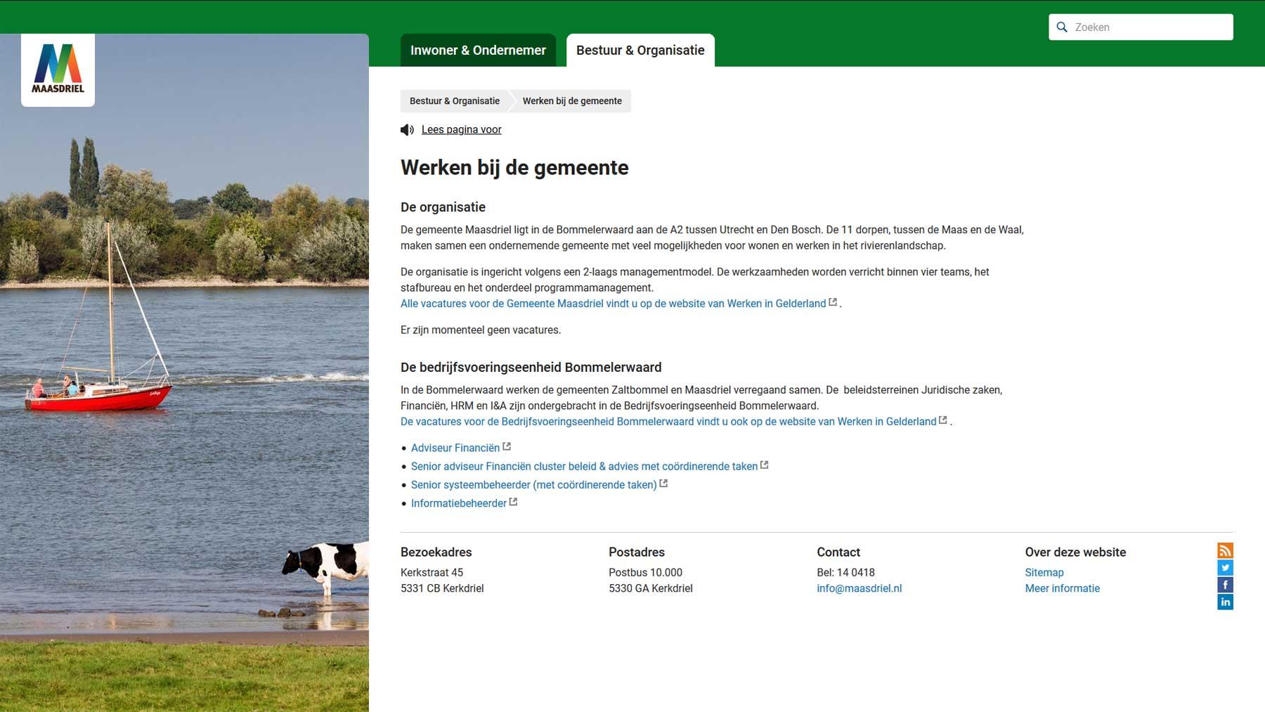 Integratie vacatures Maasdriel | Toptaken website