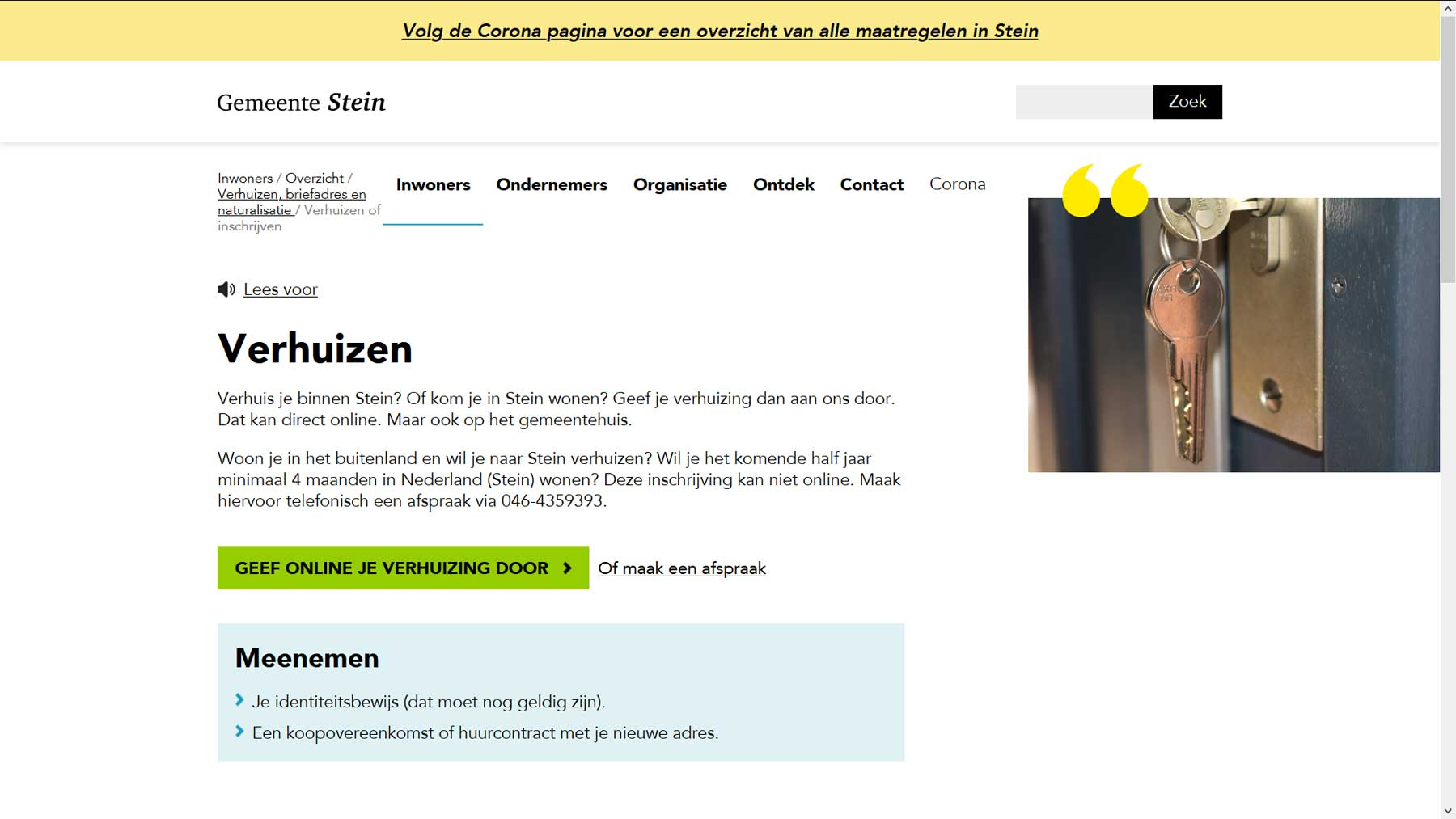 Toptaak website Stein | Toptaken website