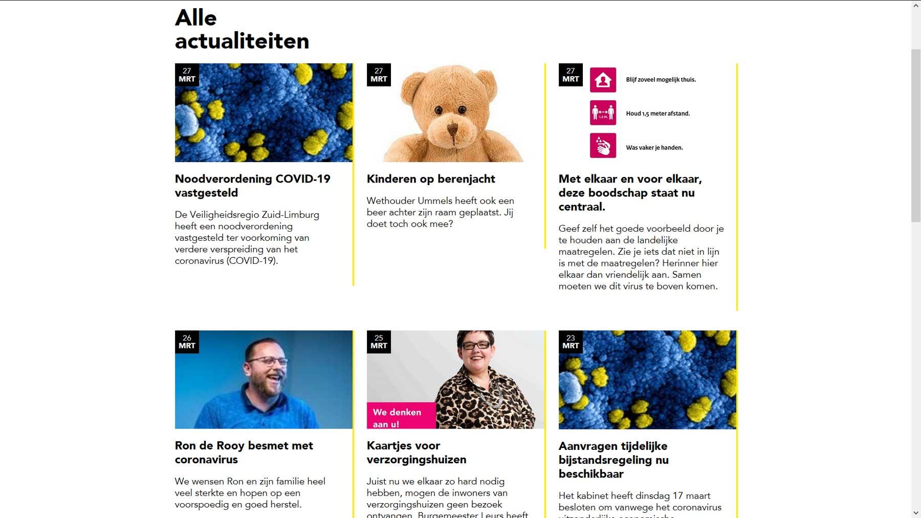 Nieuwsoverzicht website gemeente Stein | Toptaken website
