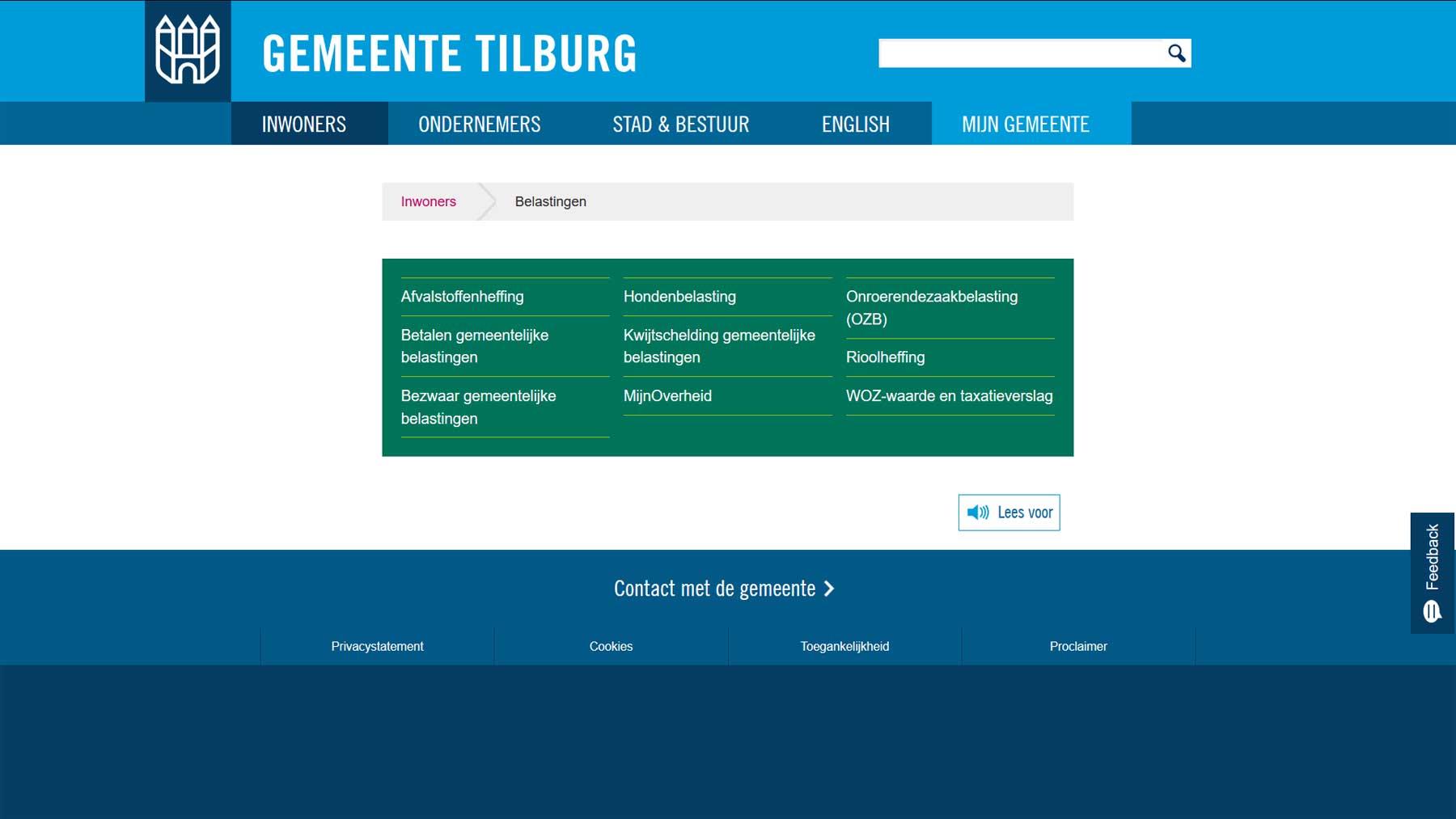 Overzichtspagina website Tilburg | Toptaken website