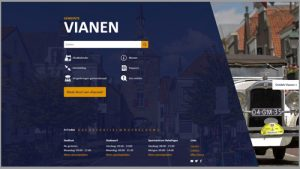 Screenshot homepage Toptaken website voormalig gemeente Vianen